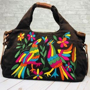 RARE Kate Spade Colorful Oaxaca Bird Leather Hobo